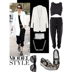 Model Style by yviestyle on Polyvore featuring polyvore fashion style Disney Michael Kors Gucci Vero Moda