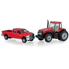 Ertl Collectibles 1:64 Dodge Pickup with 180 Magnum Tractor by Ertl Collectibles. $17.99. Die cast Dodge Ram pickup. Die cast CIH Magnum tractor. Clear tractor windows. Soft plastic tires. From the Manufacturer                1/64 die cast replica of a Dodge Ram pickup and the CIH Magnum 180 tractor Die cast Dodge Ram pickup Die cast CIH Magnum tractor.                                    Product Description                * In Stock! * New tooling for the truck!