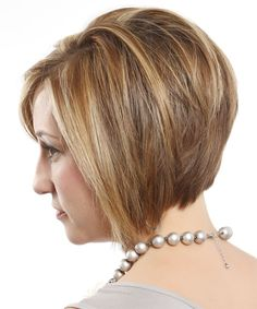 Salon hairstyles 5 - highlighted jagged bob hairstyle with side part - side view 1. Try on this hairstyle and view styling steps! http://www.thehairstyler.com/hairstyles/formal/short/straight/highlighted-jagged-bob-hairstyle-with-side-part