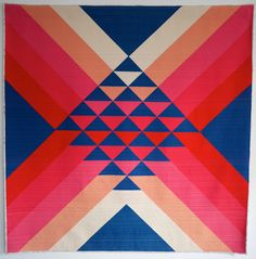 """""""Go North"""" - Pieced and quilted by Maritza Soto, Cambridge, MA, United States. Cambridge Modern Quilt Guild. hungryhippie sews: Quilt Con 2017 reflections"""