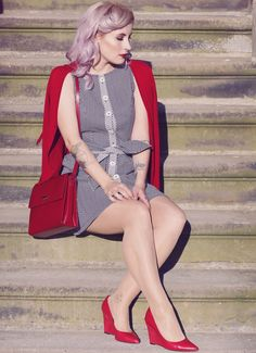 Retro Style, Retro Fashion, Vintage Style, 50s, 40s, Retro Look, Vintage Lovers, pink hair, pastel hair, Fashion, retro dress
