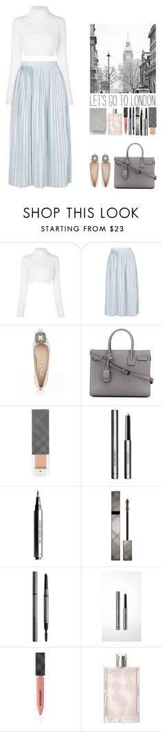 """Alice."" by noemiecalot on Polyvore featuring Balmain, Topshop, Manolo Blahnik, Yves Saint Laurent, Burberry and Acne Studios"