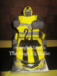 Bumble Bee Transformers Birthday Cake