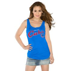 Chicago Cubs Royal Curve Ball Tank Top $31.95 @Chicago Cubs