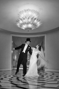 Matthew and Michelle's wedding at The Waldorf Astoria New York made the most of the venue with lots of dramatic flair.