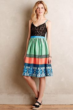 Anthropologie EU Fractal Flora Petite Dress