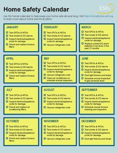 Home Safety Calendar Checklist