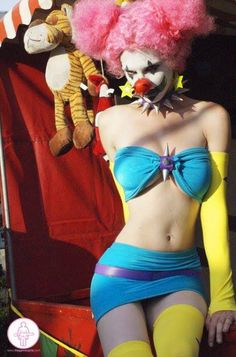 Cosplay of Dr.Rockso's backup dancer from Metalocalypse | via I Love Metalocalypse// woah, hot lady clown...