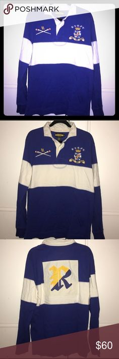 d538d2ab5 Vintage Ralph Lauren Rugby long sleeve polo Ralph Lauren RUGBY vintage slim  fit long sleeve polo