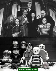 Filmszenen mit Lego nachgestellt (4 Bilder). Auf Webseite: Adams Family, Der Exorzist, Harry Potter und Twilight.