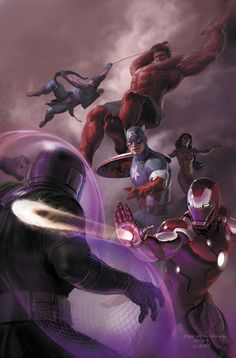 The madness and drama of FEAR ITSELF has taken its toll on the mighty Avengers and now they must reinvent themselves once more! The entire world awaits word of who will be the Avengers! This is one of the most important chapters in Avengers' history . Comic Movies, Comic Book Characters, Marvel Characters, Comic Books Art, Comic Art, Book Art, Marvel Villains, Marvel Dc Comics, Hq Marvel