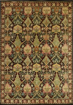"""Wimbledon"" by William Morris. ​ Arts & Crafts Movement design in authentic period colors. Like all Guildcraft carpets, the Wimbledon is hand-knotted by adult artisans in Goodweave-certified workshops. Visit guildcraftcarpets.com for more information."