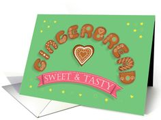 Gingerbread. Sweet and tasty. Artistic Cookies Font card (1462142)