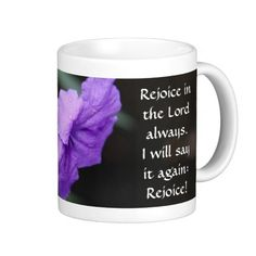Purple Bloom w/ Scripture, Rejoice in the Lord!