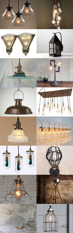 Let there be Light! by Quentin Eckman on Etsy--Pinned with TreasuryPin.com #industriallighting #industrialchandeliers #modernlighting #rusticlighting #industriallightfixtures