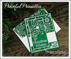 Peaeful Poinsettia Under The Mistletoe From Poinsettia Cards, Poinsettia Wreath, Winter Cards, Holiday Cards, Christmas Cards, Christmas Ideas, Stampin Up Christmas, Christmas Wishes, Easy To Grow Houseplants
