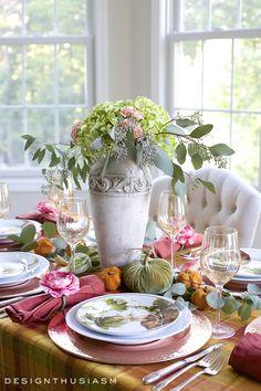 Autumn Color in a Fall Tablescape | Seasonal Blog Hop
