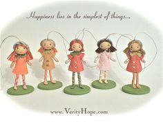 Handmade felt ornament doll gifts for girls www.verityhope.com