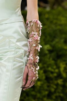 She will stock up this Spring with Dior's floral sheer gloves for her famously beautiful arms.