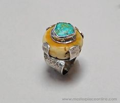 Search and Explore Art - Masterpiece Online Turquoise Jewelry, Boho Jewelry, Jewelry Art, Jewelry Rings, Jewelery, Fine Jewelry, Jewelry Design, Jewelry Making, Metal Clay Jewelry