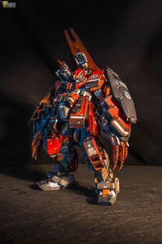 Gundam [Hazel Custom] Unit 4 - Kitbash Custom Build Modeled by noctizer Jeep Wheels, Gundam Toys, Lego Creative, Strike Gundam, Gundam Build Fighters, Gundam Custom Build, Cool Robots, Gundam Wing, Frame Arms