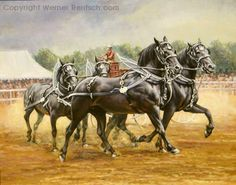 Equine Artist Werner Rentsch | Draft Horse Art | Working Horses in Art | Horse Paintings