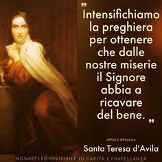 Intensificare la preghiera D Avila, Santa Teresa, Virgin Mary, Movie Posters, Film Poster, Popcorn Posters, Film Posters, Blessed Mother, Posters