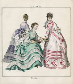 Casey Fashion Plates Detail | Los Angeles Public Library The Queen Date:  Friday, July 1, 1870