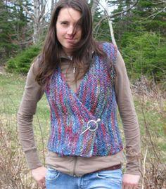 Celtic vest -- easy, free pattern, knit in one piece. http://www.fleeceartist.com/patterns/FleeceArtistCelticVest.pdf