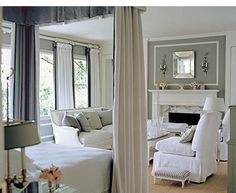 McDonald bedroom - gray and white