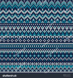 Seamless Fair Isle Knitted Pattern. Festive and Fashionable Sweater Design