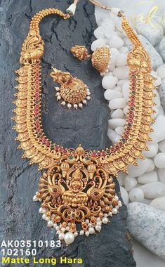 Temple Jewellery Available at for booking msg on Antique Jewellery Designs, Gold Earrings Designs, Gold Jewellery Design, Necklace Designs, Jewellery Sale, Designer Jewellery, Gold Temple Jewellery, Silver Jewelry, Indian Jewelry