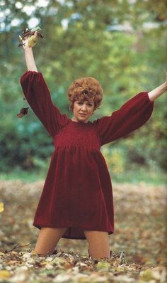 Smock top dresses in the later 60s - this is singer Cilla Black in 1968