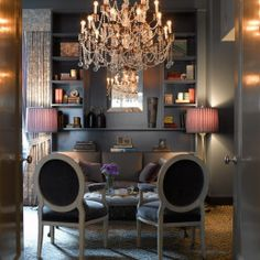 glam decor living room gray and pink You had me at Grey! Just Decorate Blog