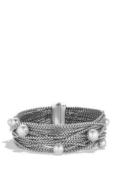 David Yurman Sixteen-Row Chain Bracelet with Pearls available at #Nordstrom