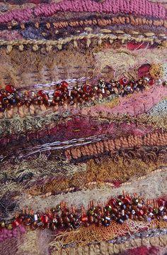 Dreaming Cuba Tobacco Fields (detail) by Jane LaFazio textile art, Art Fibres Textiles, Textile Fiber Art, Textile Artists, Creative Embroidery, Embroidery Art, Embroidery Digitizing, Creation Art, Creative Textiles, Fabric Manipulation