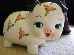 The piggy bank that was in my grandpa's house when I was growing up Piggy Banks, Kawaii Things, Safe Room, Toddler Girls, Weather, Retro Toys, Money Bank