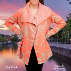 Soft Coral & Gray Cardigan Sweater Super soft and undeniably cozy. Perfect for any season including a cool summer night. 60% acrylic, 40% polyester VO Jeans Sweaters Cardigans