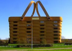 The Basket Building (Ohio, United States)  Those crazy Americans! What will they think of next? Next you'll be telling me they've designed a building in the shape of a wicker basket! What? They have? It's the home of the Longaberger Basket Company, stands at 180,000-square-feet, cost $ 30 million and took two years to complete? Wow, now I've seen everything!