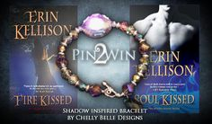 My prize for Pin2Win--a Shadow world inspired bracelet created for the event by Chelly Belle Designs