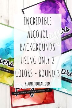 Here's Round 3 of alcohol backgrounds with only 2 colors per card and this time I used other colors from the 15-pack of new alcohol inks by Tim Holtz. Check out the dramatic effects I got this time around! Read the full post >>