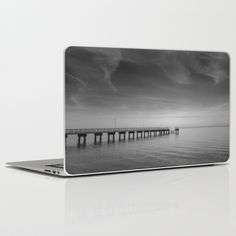 Laptop Skins IPAD 1st 2nd 3rd 4th Mini Macbook Air Pro PC Laptop End of the Pier Black and White Landscape Photograph #landscapephotography #homedecor #giftsfor #holidaygifts #naturephotography  #skins #IPAD1stgenskins #ipadskins #laptopskins #IPAD2ndgenskins #IPAD3rdgenskins #IPAD4thgenskins