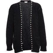 Designer Knitwear For Women Cable Knit Cardigan, Black Cardigan, Latest Fashion Design, Fashion 2014, Silver Tops, Brown Fashion, Preppy Style, Knitwear, Saint Laurent