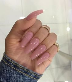 Short acrylic nail designs ombre beautiful 9 lovely coffin nails pink ombre ⋆ fitnailslover Fabulous Nails, Gorgeous Nails, Love Nails, Pretty Nails, Perfect Nails, French Nails Glitter, Glitter Nails, Long Acrylic Nails, Coffin Nails Long