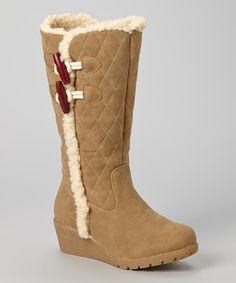 Take a look at this Tommy Hilfiger Camel Ariel Quilted Toggle Boot on zulily today!