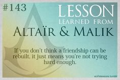 Assassin's Creed Life Lessons from Altair and Malik