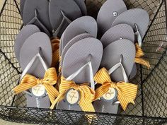 These flip flop size tags are essential for completing your flip flop baskets that will keep your guests dancing all night long! Wedding Flip Flops For Guests, Flip Flop Basket, Birthday Menu, Welcome Letters, Bachelorette Party Games, Milestone Birthdays, Menu Cards, Seating Charts, Printed Materials
