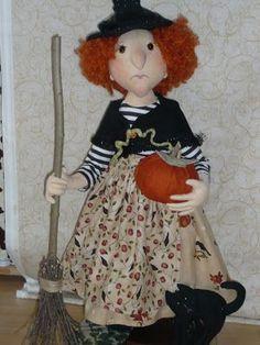 stitches for joy: Witch by Viola Bajanikova