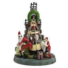 Santa Jack Skellington with Lock, Shock and Barrel Disney Snowglobe Ornament.  $49.99