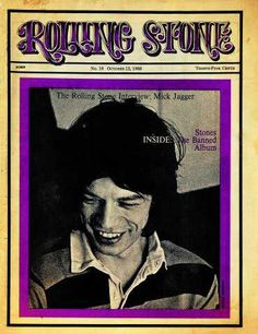 Rolling Stone Cover of Mick Jagger